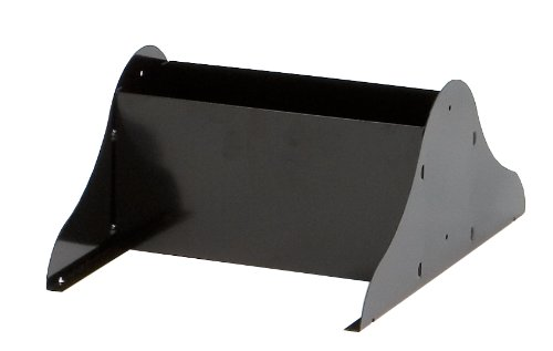 Durham 408-08-A Black Cold Rolled Steel Literature Rack Base, 10-1/8