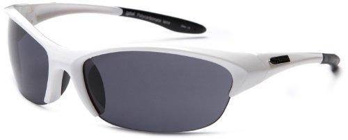 Sunbelt Uppercut 745 Resin Sunglasses,White Frame/Black Lens,one - Sun Clearance Glasses