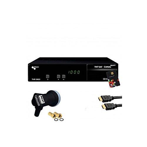 Receptor satélite Triax THR 9900 HD + tarjeta TNTSAT + HDMi ...