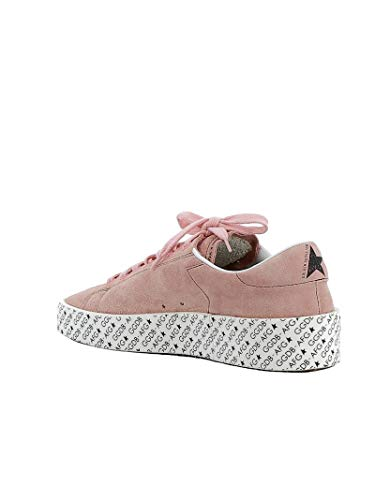 Golden Womens Sneakers Goose scamosciata pelle in G33ws957a4 rosa r51r7Aqwn