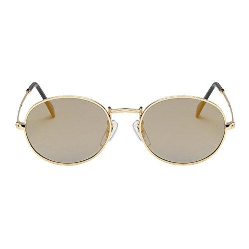 Couleur Decha Mode de Accessoires Homme pour Rétro 7 Métallique Rond soleil Plein Air En Lunettes Vintage Classique Femme aqra1w4