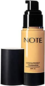 Note Detox And Protect Foundation Pump - 05 Honey Beige
