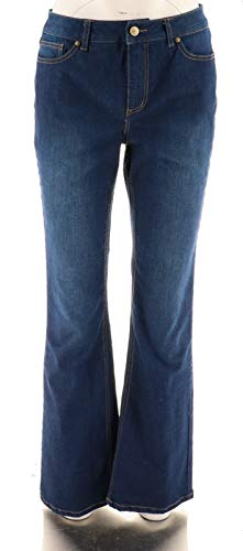 Isaac Mizrahi Live! True Denim Regular Boot Cut Jeans A280091 Dark Indigo 16 from Isaac Mizrahi Live!
