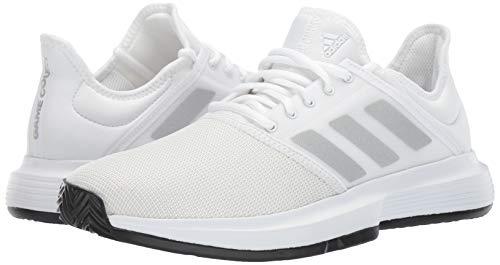 adidas Men's Gamecourt, White/Matte Silver/Black, 7.5 M US by adidas (Image #6)