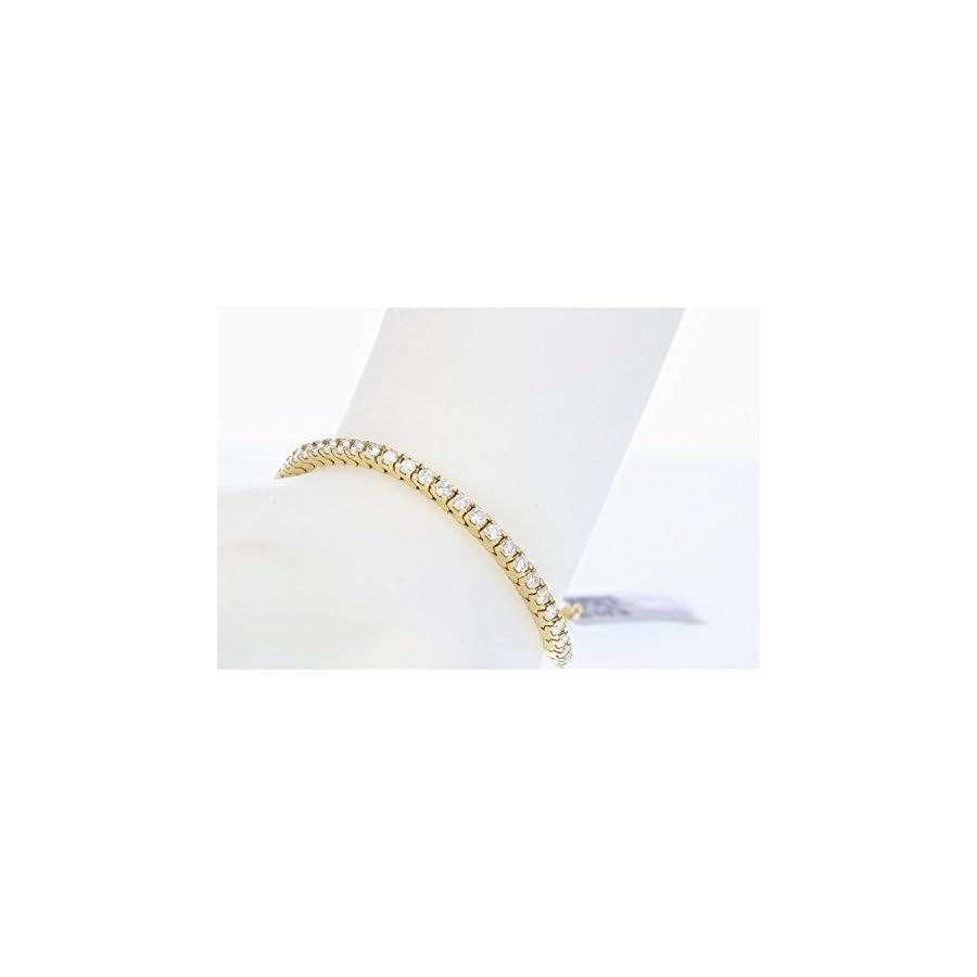 3 CT VS1 VS2 IGI Certified Diamond Bracelet 14K Yellow Gold (G H)