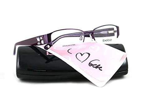 4f7d834941c0 Image Unavailable. Image not available for. Color  BEBE EYEGLASSES BB 5015  PURPLE AMETHYST AMOROUS