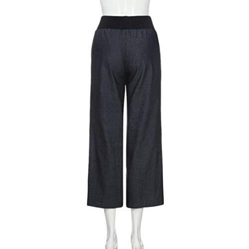 Schwarz Pour Les Taille Stretch Dames Large Palazzo Plus Solide Femmes Crayon Jeans Skinny Jambe Jeune Pantalon Chic Haute CrdoWxBe