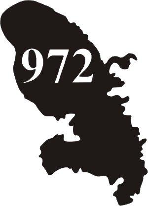 972 Ile Martinique Departement Immatriculation 2 X Autocollants Sticker Auto Auto, Moto – Pièces, Accessoires Badges, Insignes, Mascottes