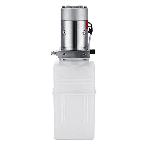 Happybuy Hydraulic Pump 12V DC Single Acting Hydraulic Power Unit 8 Quart Plastic Tank Hydraulic Pump Power Unit for Dump Trailer Car Lifting (8 Quart Single Acting Plastic) by Happybuy (Image #2)