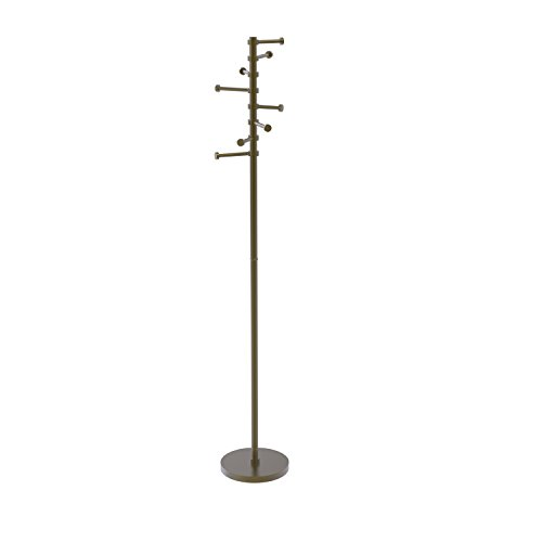 Allied Brass CS-1-ABR Free Standing Coat Rack with Six Pi...