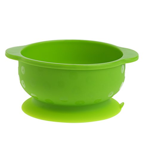 Solar Power Dish - Woolf's House Kids Baby Silicone Sucker Bowl Feeding Dishes Slip-Resistant Tableware BPA Free (Green)
