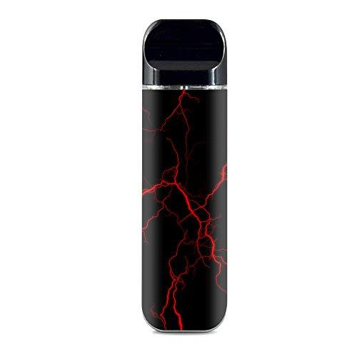 IT'S A SKIN Decal Vinyl Wrap for Smok Novo Pod System Vape Sticker Sleeve Cover/Red Lightning Bolts Electric