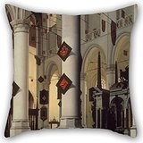 Artistdecor The Oil Painting Hendrick (Cornelisz.) Van Vliet - Interior Of The New Church At Delft, With The Tomb Of William The Silent Pillow Cases Of ,20 X 20 Inches / 50 By 50 Cm Decoration,gift