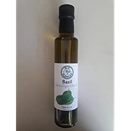 M.G. PAPPAS Basil Infused Olive Oil EVOO Extra Virgin Olive Oil Fresh First Cold Pressed 100% Italian Premium Gourmet Taste Diet Foods Herb Single Origin 8.45 fl. Oz 250 ml 26 100% ITALIAN EXTRA VIRGIN OLIVE OIL: M. G. PAPPAS uses First Cold Pressed EVOO which gives minimum acidity and great oil taste. Also, our Basil Infused Olive Oil includes all the Healthy Benefits that only Extra Virgin Olive Oil can offer. All of our infused extra virgin olive oils are produced, infused and packaged at our facility in Italy. WE INFUSE WITH 100% REAL NATURAL INGREDIENTS : Basil Infusion is All Natural and comes from Basil Leaves. No Artificial Flavors, No Fillers, No Additives, No Colorants, No Preservatives, Gluten and Cholesterol Free. GREAT GIFT IDEA : Give this amazing product to your family and friends. This is a 250ml glass bottle of a Healthy source of vitamins and Mediterranean taste. Serving Size 1 Tablespoon (15ml). Enjoy!!