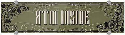 24x6 ATM Inside CGSignLab Victorian Gothic Premium Brushed Aluminum Sign 5-Pack
