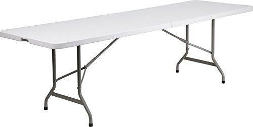 (Emma + Oliver 30x96 Portable Party Plastic Folding Table - Granite White Top)