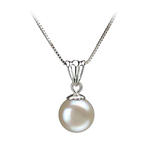 Nancy White 9-10mm AA Quality Freshwater 925 Sterling Silver Cultured Pearl Pendant For Women