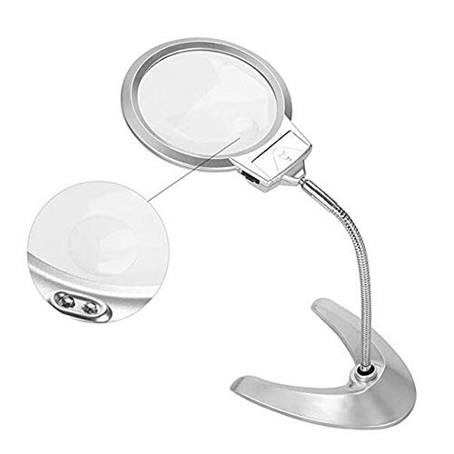 (Magnifiers JFW-Desk Metal Adjustable 360 Degree Reading Repair Magnifying Glass Jewelry Loupe)