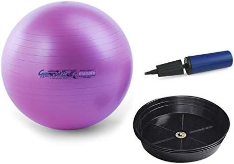 Oliver Ballpumpe bis 400 kg belastbar Training Fitness Reha Therapie Pezzi Gymnastikball MAXAFE Sitzball Set /Ø 42 cm bis 75 cm inkl