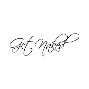 Lchen Get Naked PVC Removable Wall Sticker Home Decal Bathroom Background Decor(naked01)