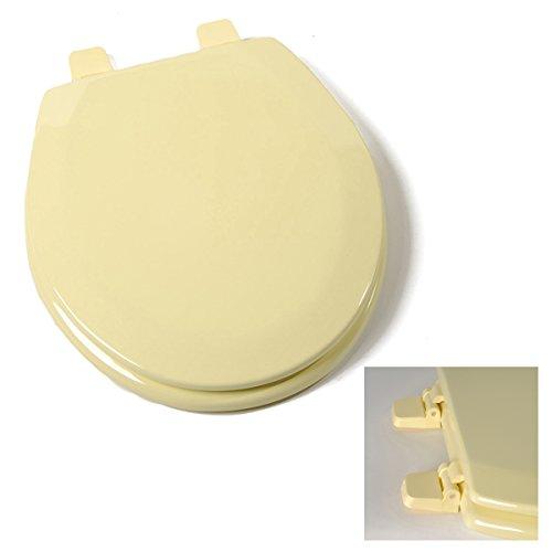 Deluxe Citron Yellow Wood Round Toilet Seat