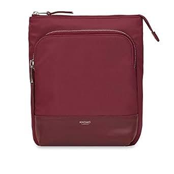 "Knomo Mayfair Capsule Carrington, 10"" Mini Cross-Body Bag, with Device Protection, RFID Pocket and KNOMO ID, Berry"