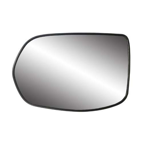 Fit System 33217 Honda CR-V Left Side Heated Power Replacement Mirror Glass with Backing Plate - Honda Crv Replacement Driver