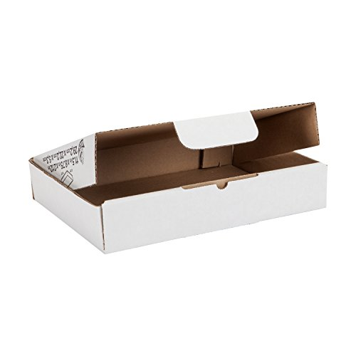 Duck Brand Self-Locking Mailing Boxes, Literature Size, 11.5'' x 8.75'' x 2.12'', White, 25-Pack (1147604) by Duck