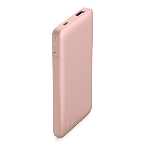 Belkin Pocket Power 5,000mAh Durable Ultra Slim Portable Charger / Power Bank / Battery Pack (Pink)