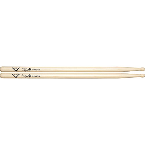 Vater Sugar VSMP5BW Maple Drumsticks Power 5B Wood Tip Drumsticks