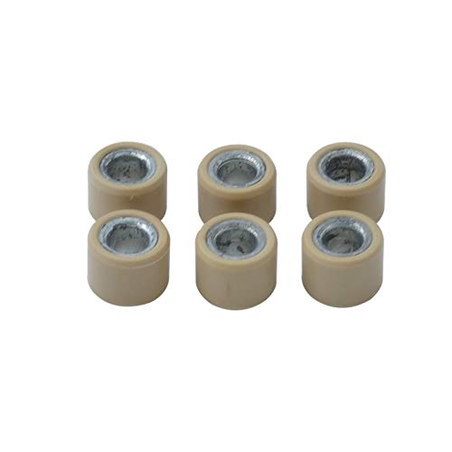 StoreDavid - (6pcs/set) Motorcycle Drive Clutch Variator Roller Pulley For GY6 125 150 152QMI 157QMJ Scooter ATV TaoTao 18x14mm 12g 17g
