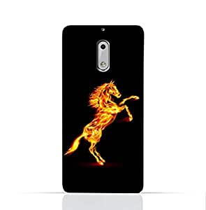 Nokia 6 TPU Silicone Case with Horse on Flame