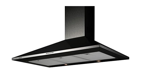 CATA OMEGA 900 BK De techo Negro 645m³/h D - Campana (645 m³/h, Canalizado, D, F, B, 57 dB): Amazon.es: Grandes electrodomésticos