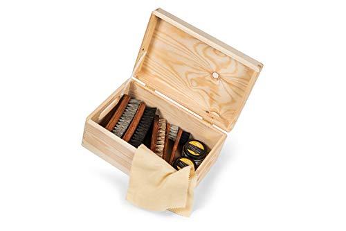 Kit d'entretien du cuir pour polir et entretenir vos chaussures en cuir lisse et vos bottes en cuir - Livré dans une… 1