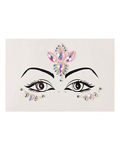 iHeartRaves Lunautics Pretty Princess Face Jewels (Pink, One Size) -