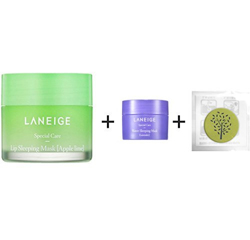 [Laneige] Laneige Lip Sleeping Mask {Apple Lime} 0.7oz(20g) + [Laneige Kit] Water Sleeping Mask Lavender 0.51oz(15ml) (Apple Lime)