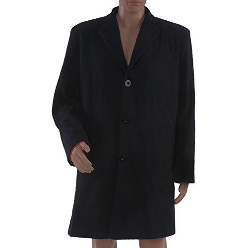 12th Doctor Costume Jacket (Allten Men's Costume Doctor Who 12th Dr. Dark Trench Wool Coat Jacket Vest XL)