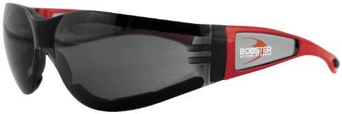 Bobster Eyewear Shield II Sunglasses , Distinct Name: Red/Smoke Lens, Gender: Mens/Unisex, Primary Color: Red - Part Names Sunglass
