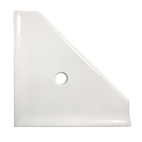 Bathroom Shower Corner Shelf 8 inch - Questech Mounted Corner Shelf - Polished White by Questech