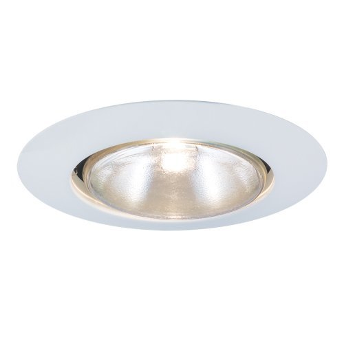 Jesco Lighting TM601WH 6-Inch Aperture Line Voltage Trim Recessed Light, Open Trim Ring, White Finish by Jesco Lighting Group - Voltage Open Trim
