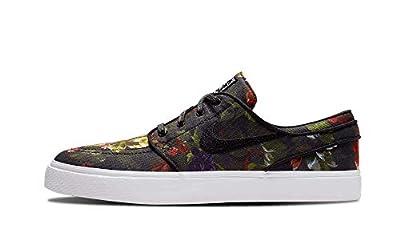 Nike Zoom Stefan Janoski CNVS Mens Skateboarding-Shoes 615957-900_4.5 - Multi-Color/Black-White-Gum Light Brown