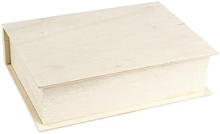 Caja de almacenamiento de madera con forma de libro de 4 x 15 x 11 ...
