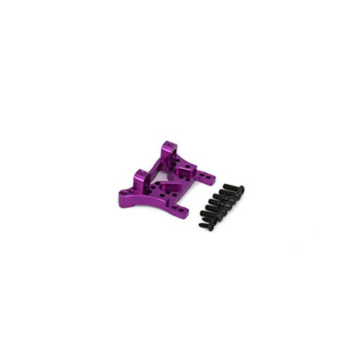 (RCAWD Rear Shock Tower Absorber Plate A580022 Machined Alloy Aluminum for Rc Hobby Model Car 1/18 Wltoys A959 A969 A979 K929 Upgraded Hop-Up Parts 1Pcs(Purple))