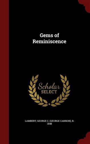 Read Online Gems of Reminiscence ebook