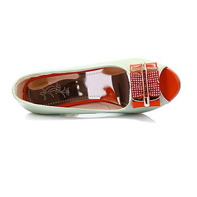 LvYuan Tacón Robusto-Zapatos del club Innovador-Sandalias-Boda Vestido Informal Fiesta y Noche-Materiales Personalizados Cuero Patentado-Negro Orange