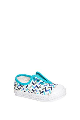 TOMS Kids Unisex Zuma Sneaker (Infant/Toddler/Little Kid) Turquoise Canvas Chevron Oxford