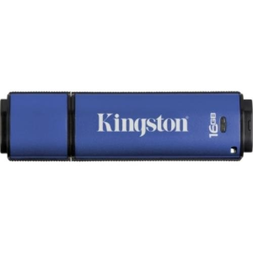 Kingston Digital 16GB Data Traveler AES Encrypted Vault Privacy 256Bit 3.0 USB Flash Drive (DTVP30/16GB)