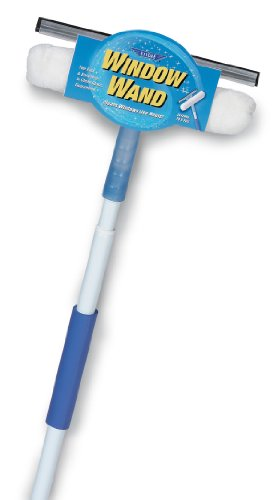 (Ettore Window Wand Squeegee and Washer Combo Tool, 5 Feet Handle)