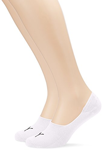 Puma Footie 2 Pack Invisible Trainer Liner Sock,141011001300035 , White , Uk