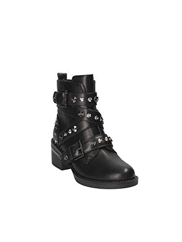 Stivaletto Black Col Donna 50 Scarpe Nero Tc Con Guess Fancey Cinghie D19gu22 EHqO7wCwPR